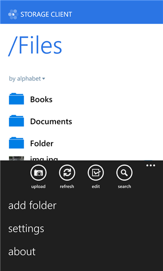 Storage Client for Dropbox